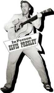 Elvis Presley In Person chunky thick fridge magnet    (nm)